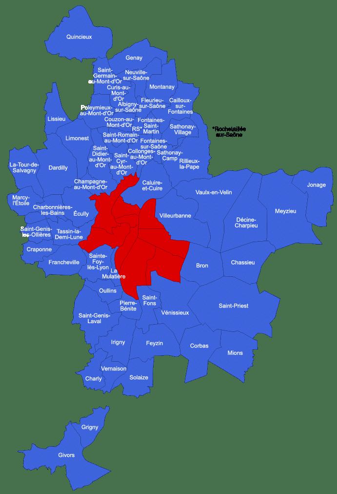 Map de Lyon COURLY